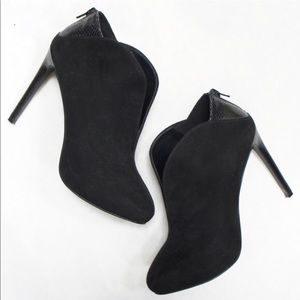 Nine West faux suede ankle boots